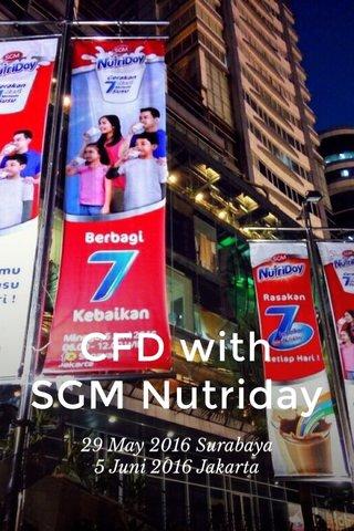 CFD with SGM Nutriday 29 May 2016 Surabaya 5 Juni 2016 Jakarta