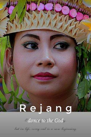 Rejang dance to the God