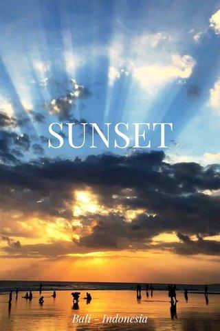 SUNSET Bali - Indonesia