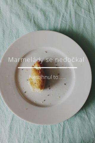 Marmelády se nedočkal Nestihnul to......