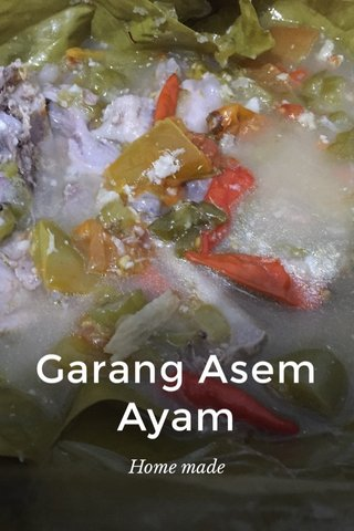 Garang Asem Ayam Home made