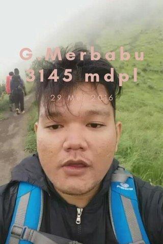 G.Merbabu3145 mdpl 29 Mei 2016