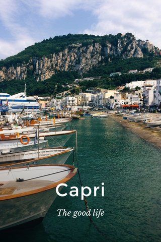 Capri The good life
