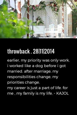 throwback . 28|11|2014