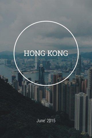 HONG KONG June' 2015