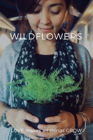 WILDFLOWERS LOVE makes all things GROW