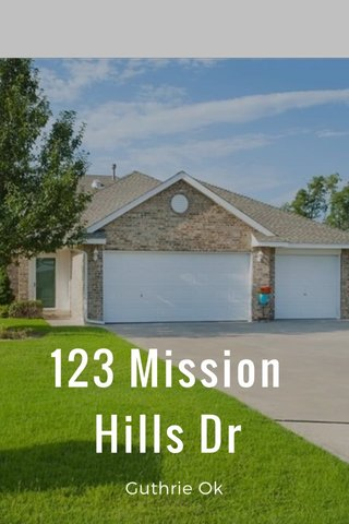 123 Mission Hills Dr Guthrie Ok