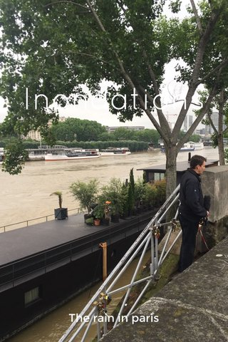 Inondations The rain in paris