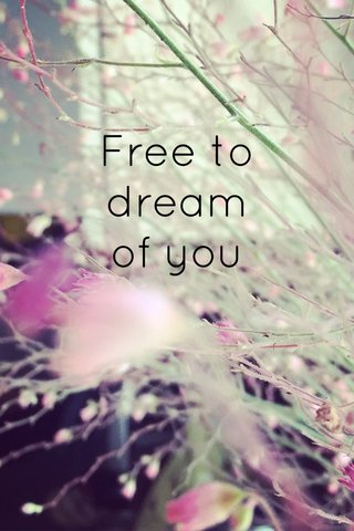 Free to dream of you