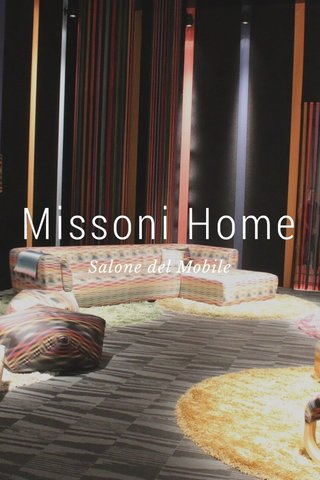 Missoni Home Salone del Mobile