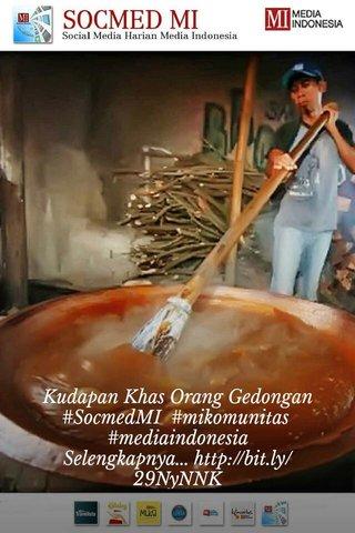 Kudapan Khas Orang Gedongan #SocmedMI #mikomunitas #mediaindonesia Selengkapnya...http://bit.ly/29NyNNK