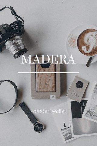 MADERA   wooden wallet  