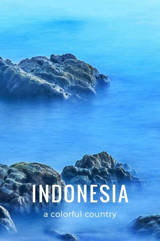 INDONESIA a colorful country