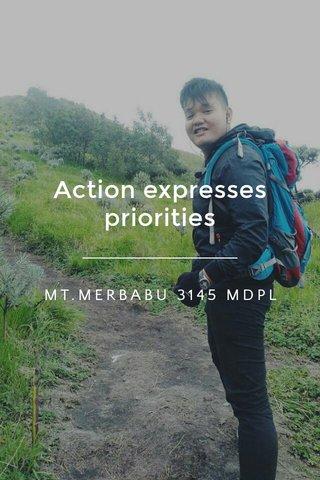 Action expresses priorities MT.MERBABU 3145 MDPL