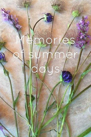 Memories of summer days