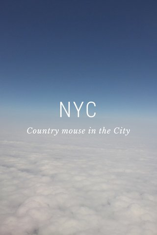 NYC Country mouse in the City