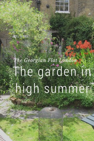 The garden in high summer The Georgian Flat London