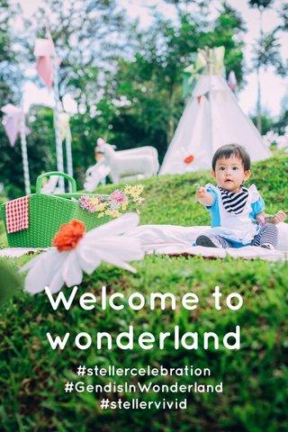 Welcome to wonderland #stellercelebration #GendisInWonderland #stellervivid