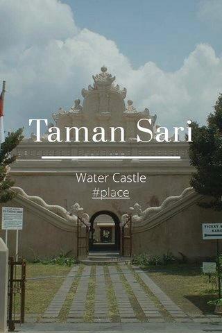 Taman Sari Water Castle #place