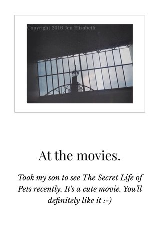 At the movies.