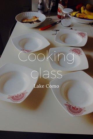 Cooking class Lake Como