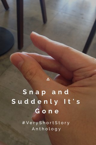 Snap and Suddenly It's Gone #VeryShortStory Anthology