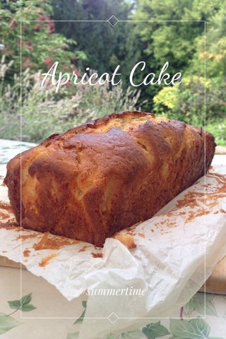 Apricot Cake #summertime