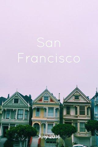 San Francisco July 2016