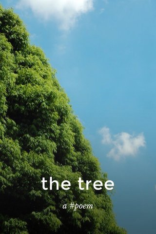the tree a #poem