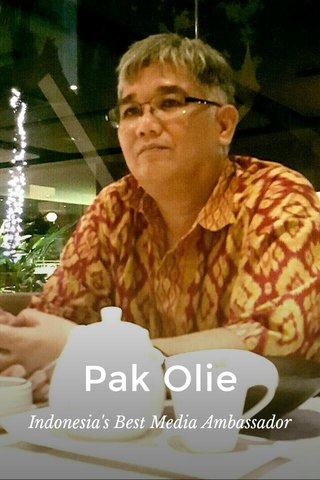 Pak Olie Indonesia's Best Media Ambassador