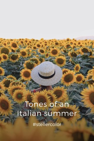 Tones of an Italian summer #stellercolor