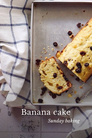 Banana cake Sunday baking