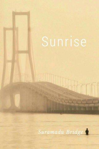 Sunrise Suramadu Bridge