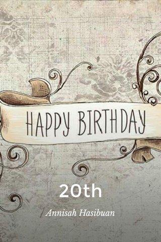 20th Annisah Hasibuan