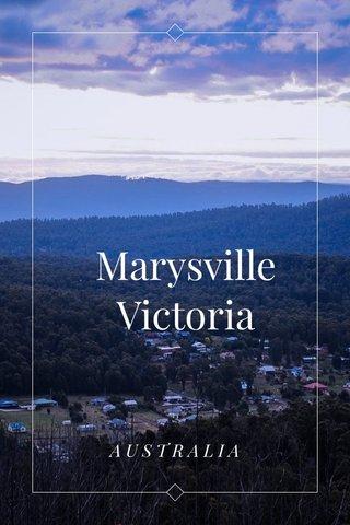Marysville Victoria AUSTRALIA