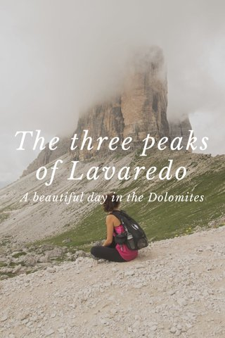 The three peaks of Lavaredo A beautiful day in the Dolomites