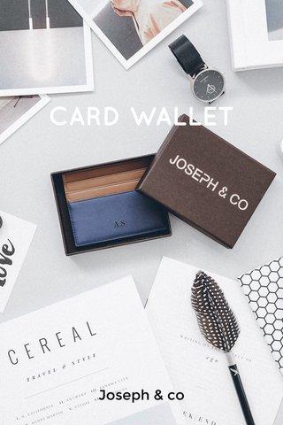 CARD WALLET Joseph & co