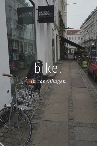 bike. in copenhagen