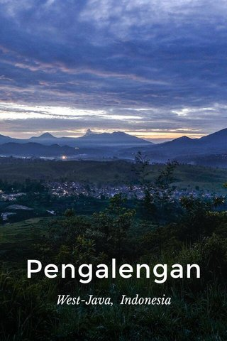 Pengalengan West-Java, Indonesia
