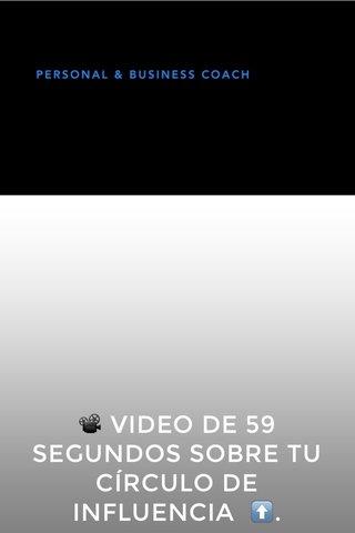 📽 VIDEO DE 59 SEGUNDOS SOBRE TU CÍRCULO DE INFLUENCIA ⬆️.