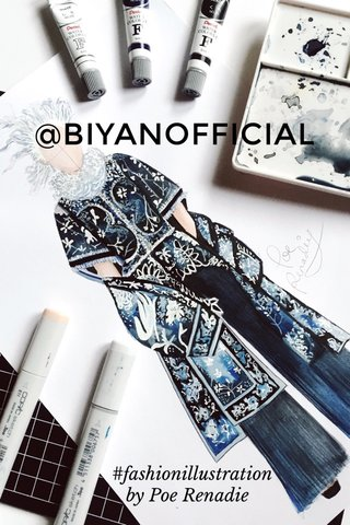 @BIYANOFFICIAL #fashionillustration by Poe Renadie