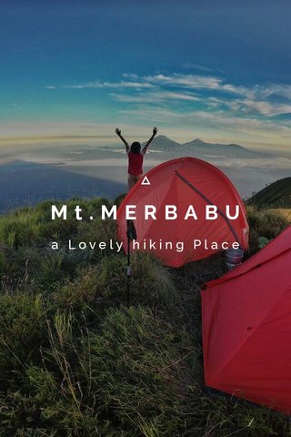 Mt.MERBABU a Lovely hiking Place