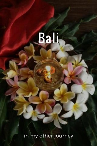 Bali in my other journey