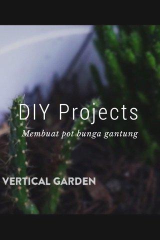 DIY Projects Membuat pot bunga gantung