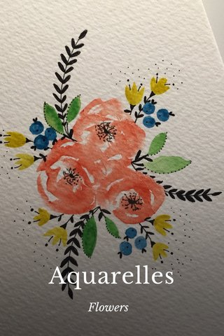 Aquarelles Flowers