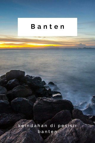 Banten keindahan di pesisir banten