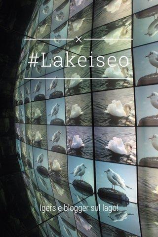 #Lakeiseo Igers e blogger sul lago!