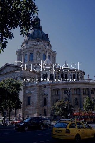 Budapest ...beauty, bold, and brave