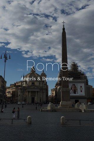 Rome Angels & Demons Tour