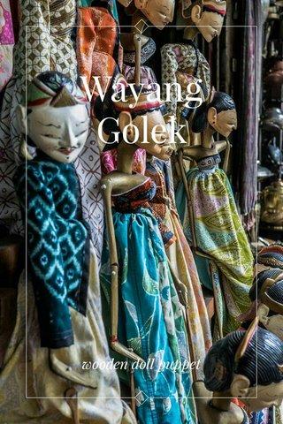 Wayang Golek wooden doll puppet
